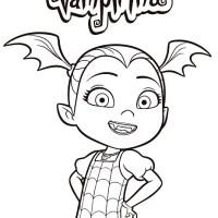 Vampirina Dibujos para imprimir y colorear