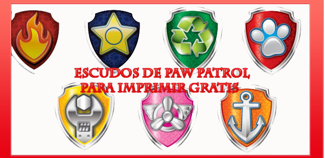 Logos Escudos Paw Patrol O Patrulla Canina Para Imprimir Gratis