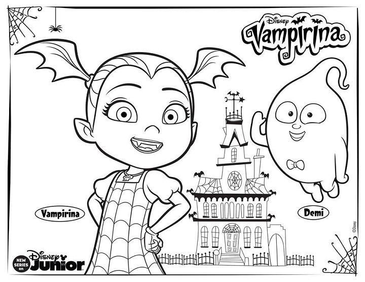 Dibujos Para Colorear Imprimir Pdf: Vampirina Dibujos Para Imprimir Y Colorear