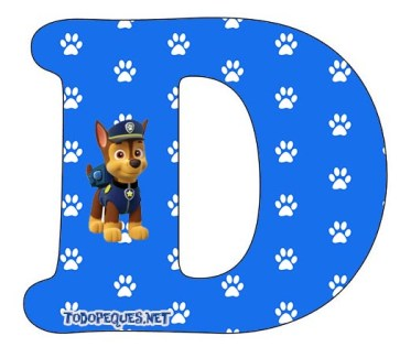 alfabeto patrulla canina Chase
