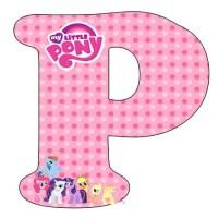 Letras Abecedario de My Little Pony para imprimir gratis