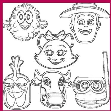 La Granja de Zenon Dibujos para Colorear | Todo Peques