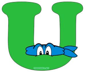 Ninja turtles letters