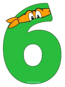 Ninja turtles numbers