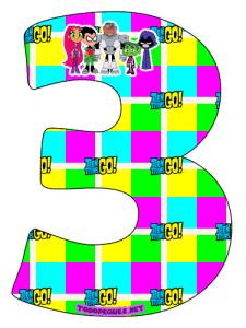 Teen Titans Go Numbers