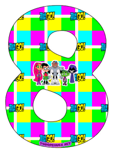 Teen Titans Go Numbers