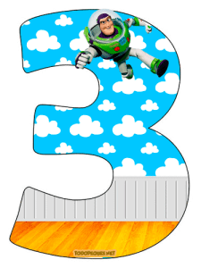 Toy Story Numbers Buzz Lightyear