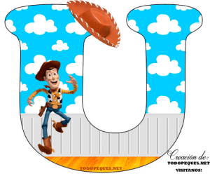 Toy Story alphabet letters