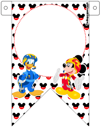 Mickey y Donald Banderines