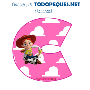 Toy Story Jessy Letters Alphabet