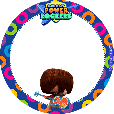Mini Beat Power Rockers etiquetas stickers
