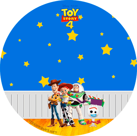Stickers circulares toy story 4