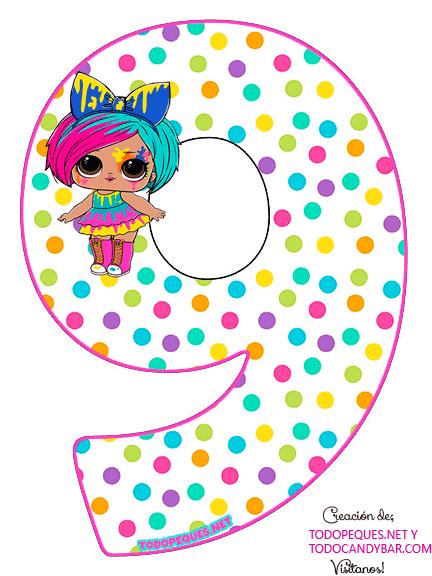 Numero 9 LOL SURPRISE 5 Serie Hairgoals Numbers