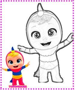 Dibujos de bebes Llorones -