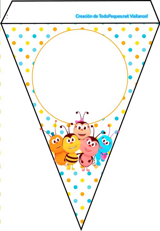 Banderines de Bichikids para imprimir