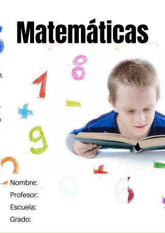 portada de matemáticas
