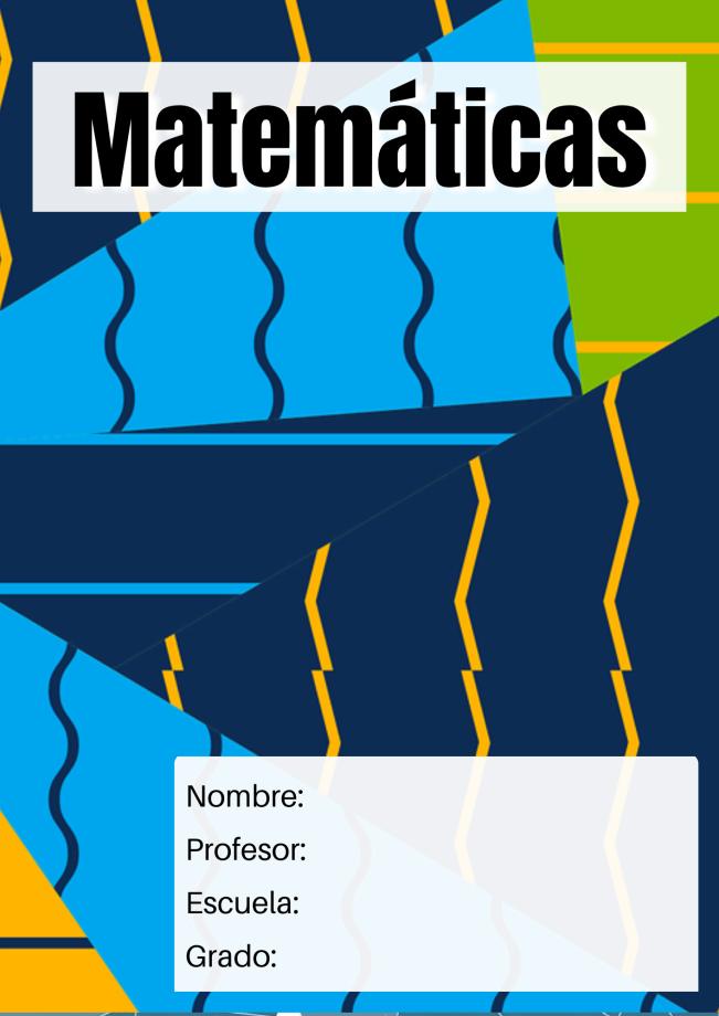 matemáticas portada