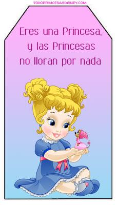 princesas bebes imprimibles