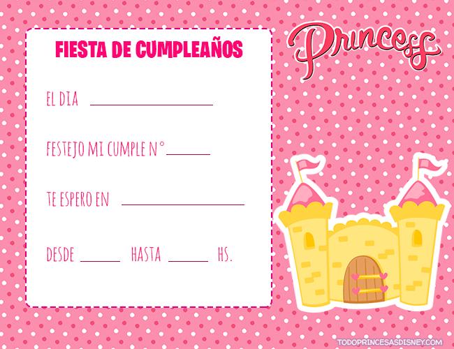 tarjetas cumpleanos de princesas