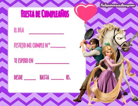 Rapunzel y Flynn fiesta cumpleanos