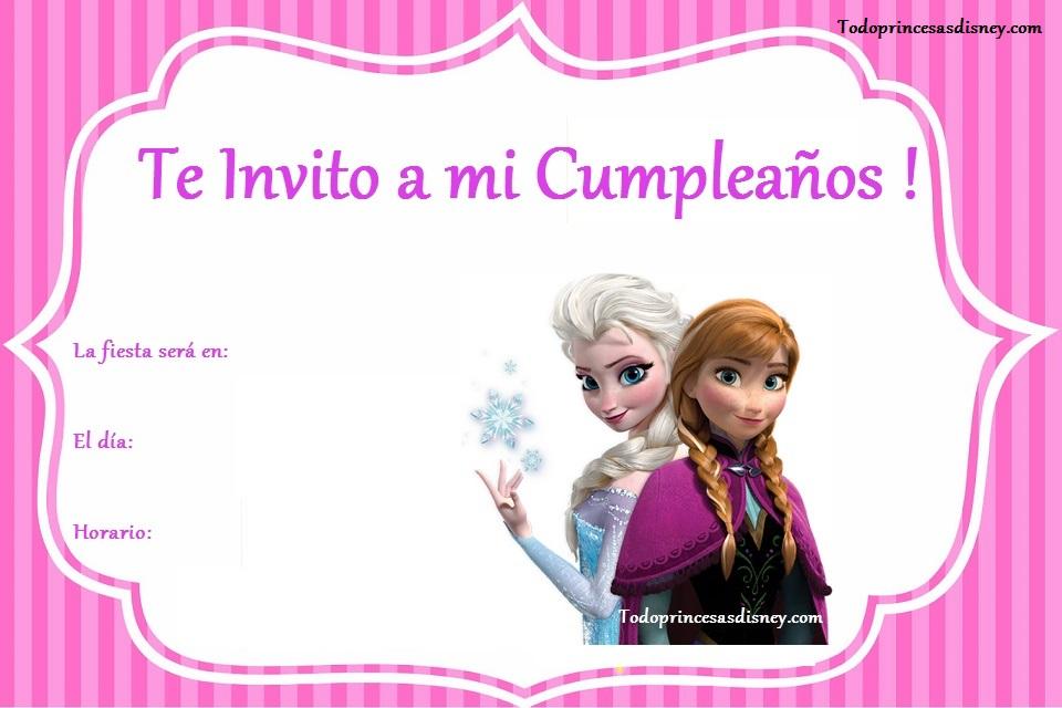 Invitaciones De Cumple Con Anna Y Elsa De Frozen Princesas Disney