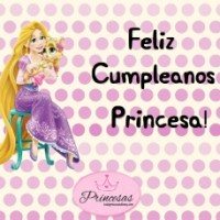 Imagen de Feliz Cumpleaños de Princesa Rapunzel