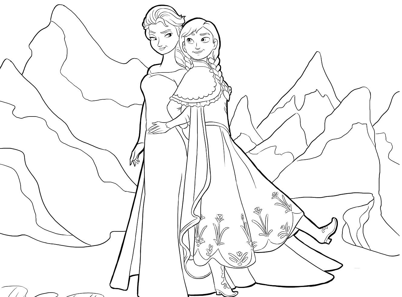 Dibujos De Elsa Y Anna Para Pintar Archivos Princesas Disney