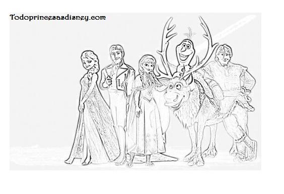 Dibujos De Elsa Y Anna Para Colorear Princesas Disney