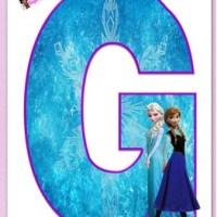 Abecedario Frozen - Letras de Frozen para imprimir