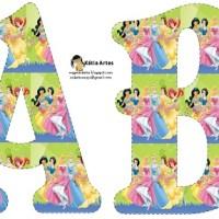 Letras abecedario de Princesas para imprimir y decorar