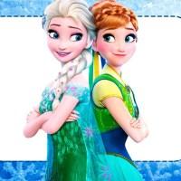 Tarjetas y Etiquetas Frozen Fiebre Congelante