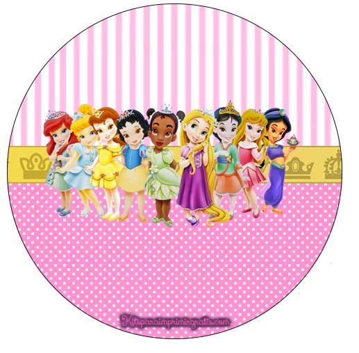 Etiqueta redonda princesas baby