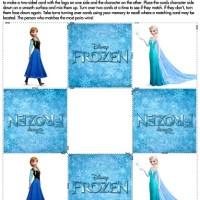 Juego Memotest de Frozen para imprimir