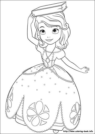 Colorear a Princesa Sofia