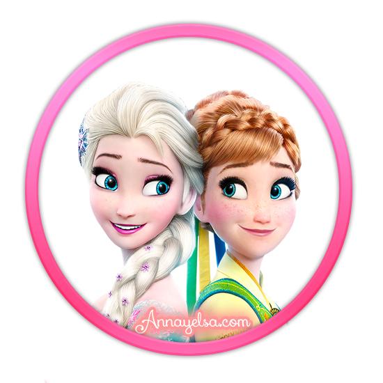 Etiqueta Frozen Elsa y Anna