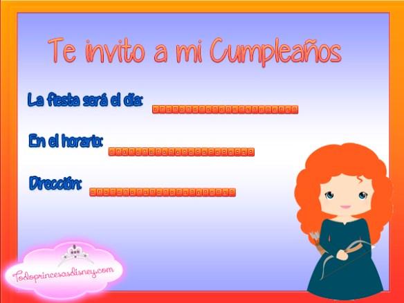 Invitaciones de cumpleaños de Mérida Valiente