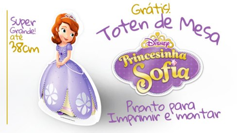 Imprimibles de Cumpleaños de Princesa Sofía Centro de Mesa de Princesa Sofía para armar