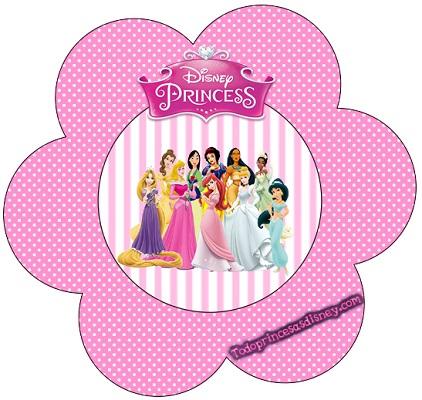 Topper flor adorno de Princesas Disney