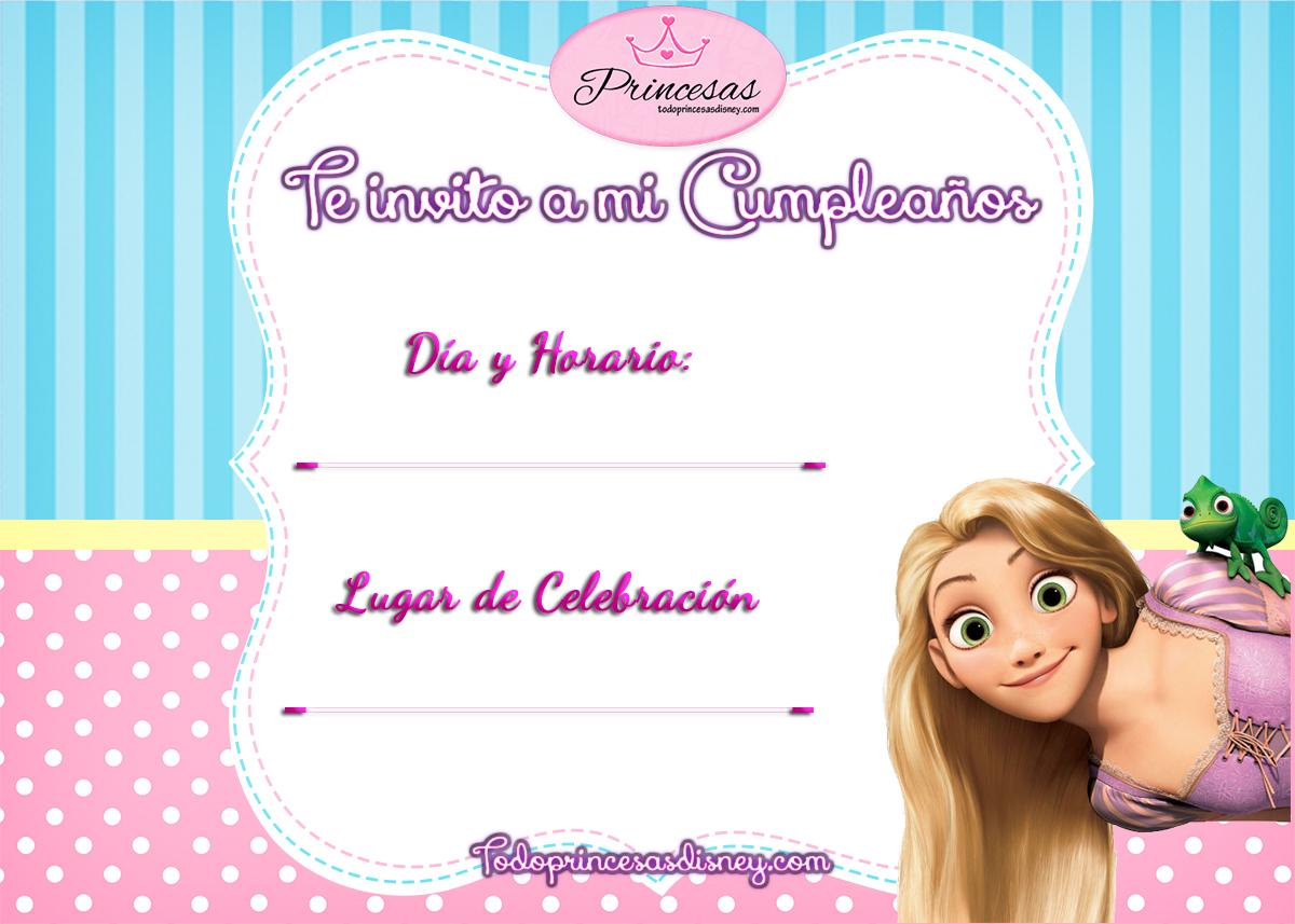 Invitaciones de cumplea os de princesas disney y frozen - Invitacion para cumpleanos ...
