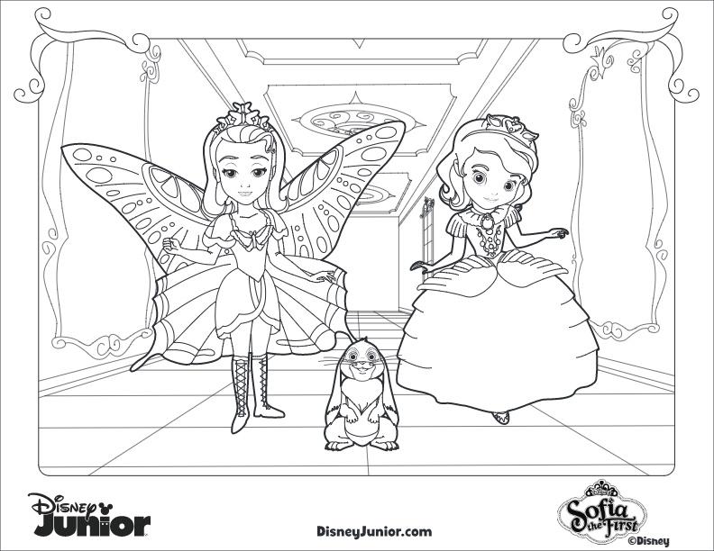 Dibujos Para Colorear De Princesa Sofia Amber Y Clover