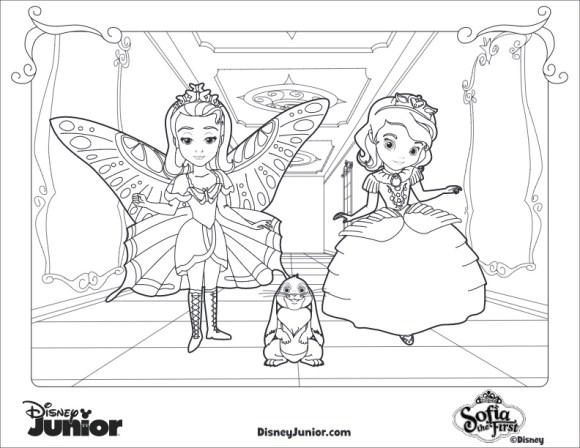 Princesita Sofia Dibujos para Colorear Sofia Clover y Amber