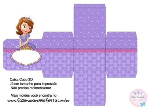 Caja Sorpresa 3D Princesita Sofía