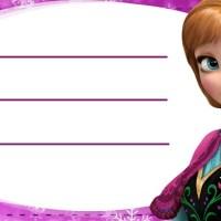 Etiquetas escolares de Frozen - Elsa Anna y Olaf