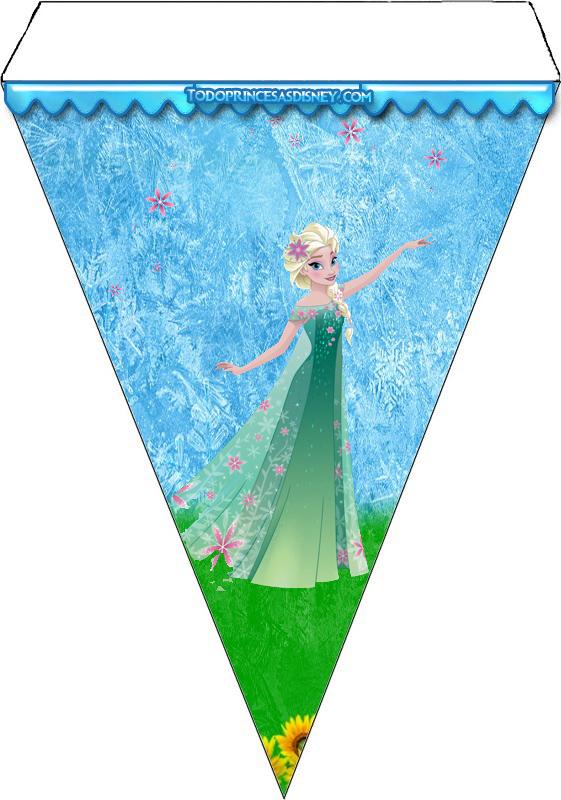 Banderines de Elsa Frozen