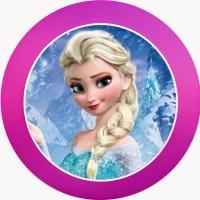 Etiquetas de Frozen para imprimir gratis
