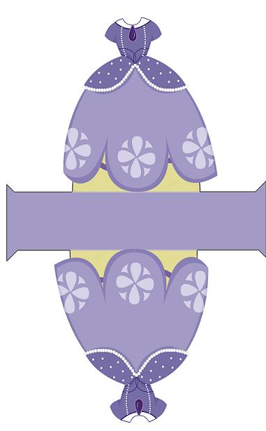 caja vestido princesa sofia - molde vestido princesa sofia disney