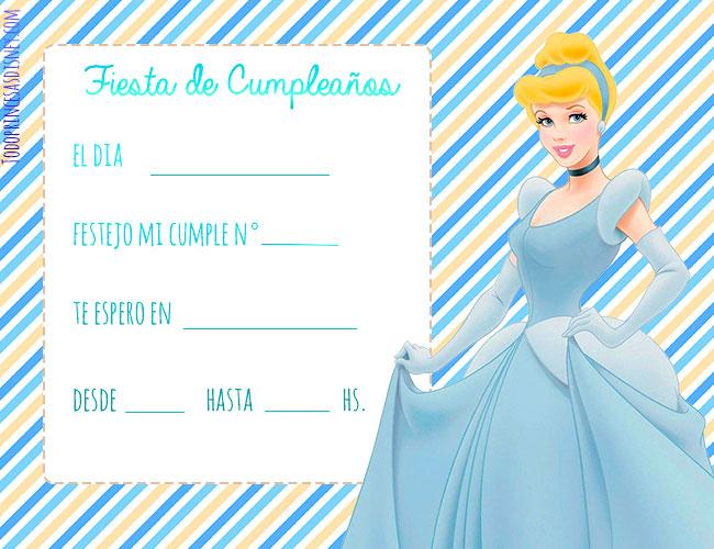 Cinderella Invitaciones de Cumpleanos