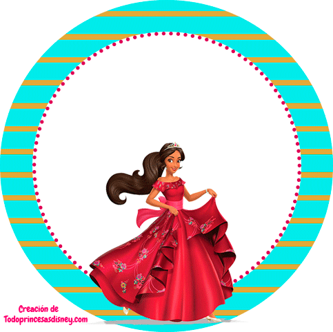 Elena de Avalor Topper stickers etiquetas