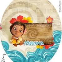 Decoracion Moana Baby, Kit para imprimir gratis