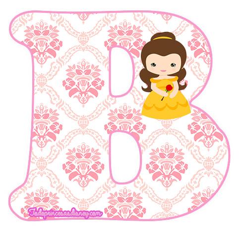 Abecedario de Bella y Bestia para imprimir | Princesas Disney